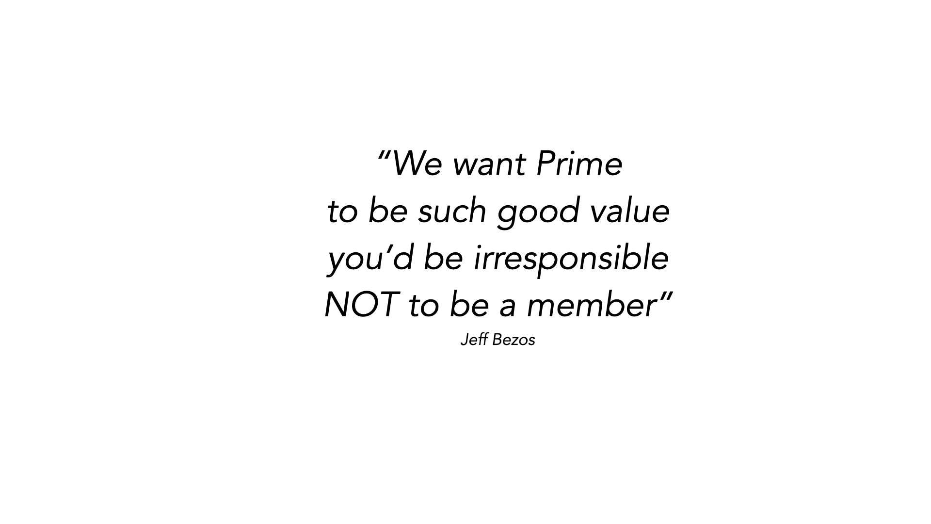 The powerful promise of Amazon Prime